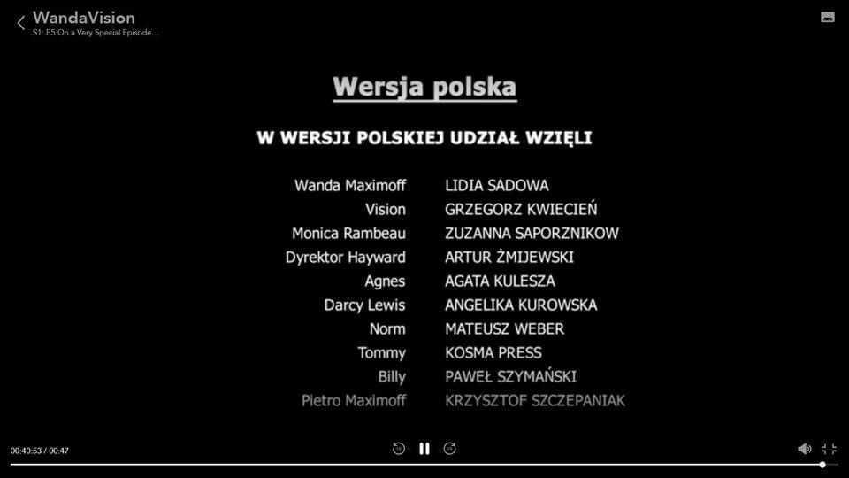 WandaVision - polski dubbing