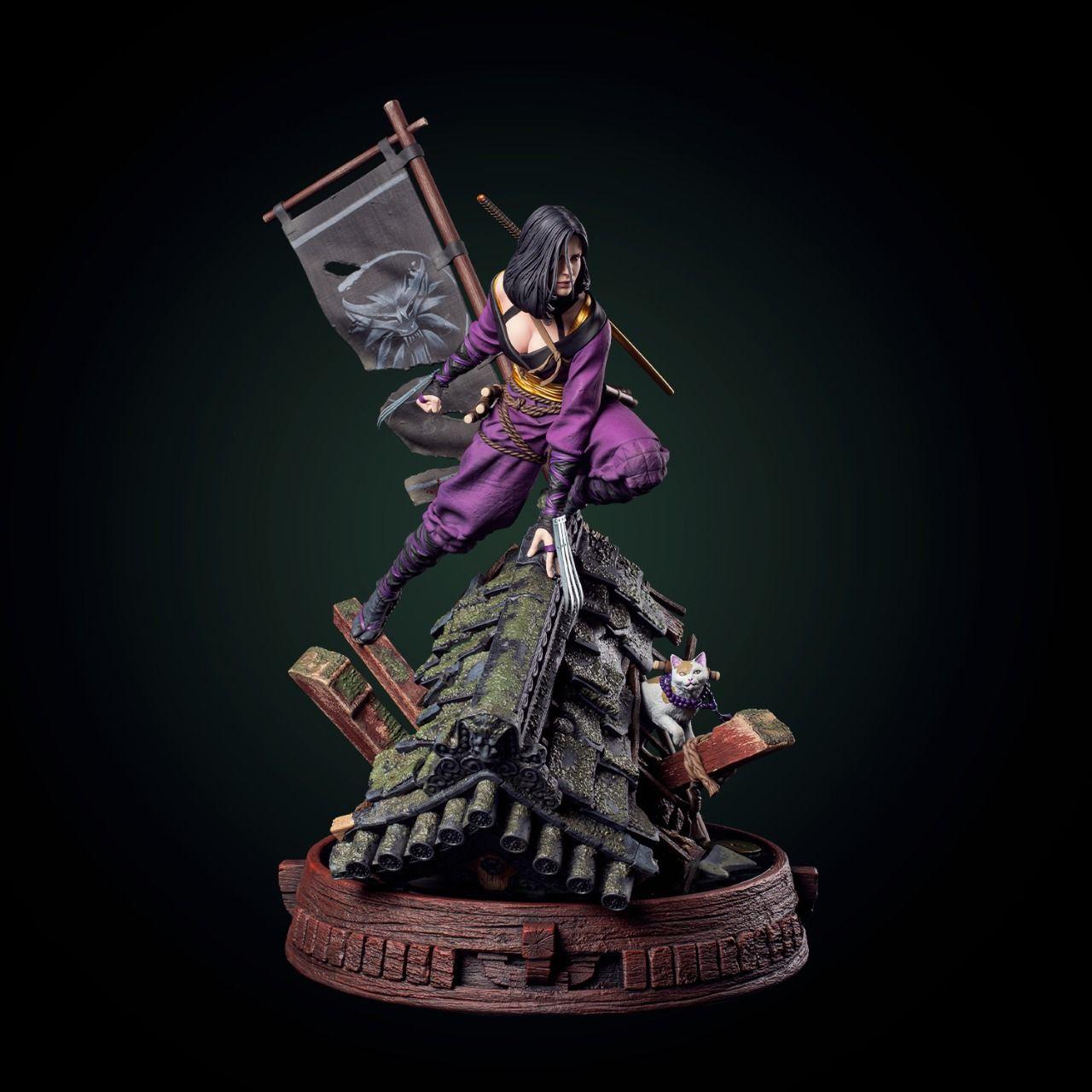 Wiedźmin 3: Dziki Gon - figurka Kunoichi Yennefer