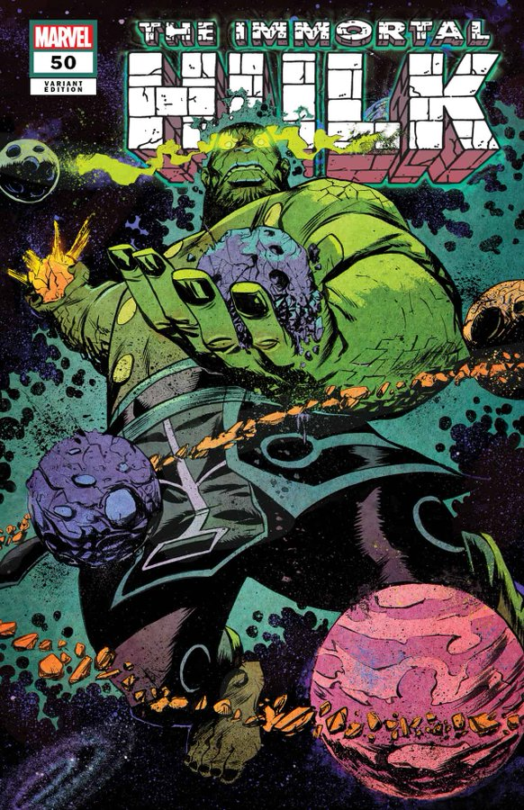 Immortal Hulk #50 - okładka alternatywna